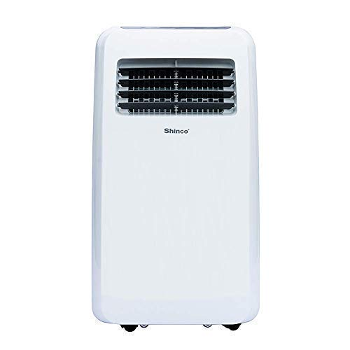 Shinco SPF2-08C 8,000 BTU Portable Air Conditioner,Dehumidifier Fan Functions,Rooms up to 200 sq.ft, Remote Control, LED Display, White