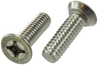 "Box of 100 12//24 X 3//4/"" Stainless Steel Flat Head Undercut Machine Screws"