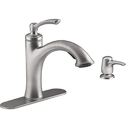 Amazon Com Kohler R16399 Sd Vs Elliston Pullout Kitchen Faucet