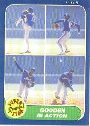 (1986 Fleer Baseball Card #626 Dwight Gooden)