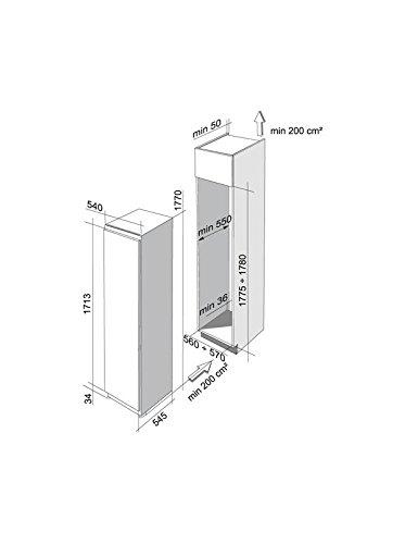 Franke FSD 340ai a +–Frigo combine (intégré, blanc, dROITE, 292L, 301L, 253L)