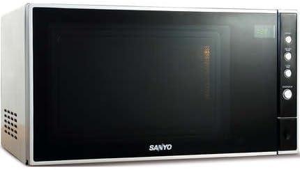 Sanyo EM-S3597V - Microondas (23 L, 900 W, Tocar, Negro, Plata, Apertura por empuje, 483 mm): Amazon.es: Hogar