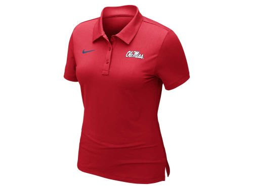 Ole Miss Polo Shirts (Ole Miss Rebels Nike Dri-Fit Logo Red Womens Polo Shirt (Small))