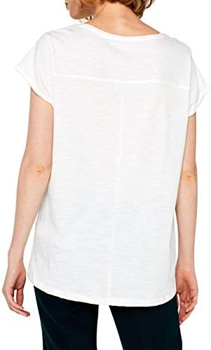 ESPRIT Women's 099ee1k065 T-Shirt, White (Off White 110), X-Small