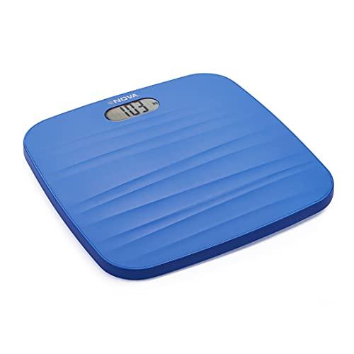 Nova BGS  1260 Ultra Lite Electronic Digital Personal Body Scale  Black/ Sea Blue   Colour May Vary