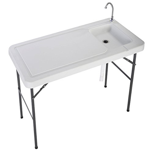 fish cleaning table with faucet - 5