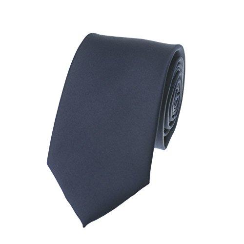 n's Business Solid Necktie (2.8 in Width, Navy) (100% Silk Solid Necktie)