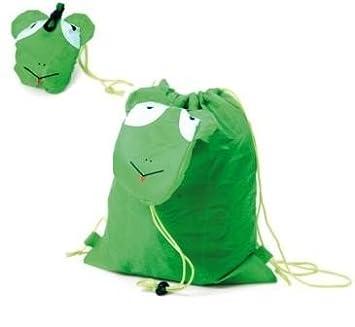 DISOK Mochila Plegable Animals Verde - Mochilas para Guarderias, Colegios, Cumpleaños: Amazon.es: Hogar