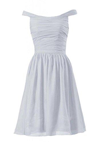 Chiffon Dress DaisyFormals Dress silver Short Off 57 BM4080 Party Shoulder Bridesmaid PqPx1Awgt