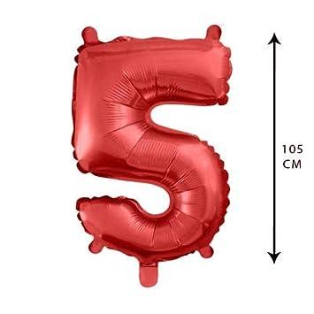 PARTY Globos de Cumpleaños - Número Grande en Color Rojo ...