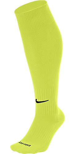 (Nike Classic II Cushion Over-The-Calf Socks SX5728 702 (Yellow, Small))