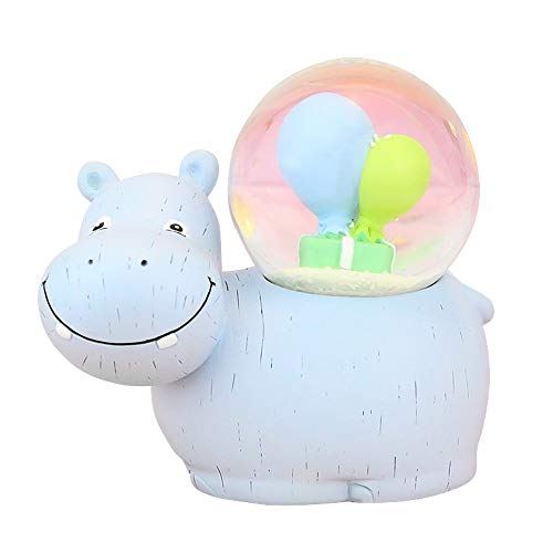 LANGING 1Pc Hippo Snow Globe 3D Water Globe Musical Snow Globe Christmas Decoration Animal Themed Home Decor]()