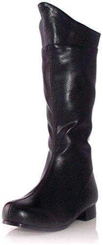 1 Inch Heel Superhero Ankle Boot Children's (Black (Children Black Superhero Boot)