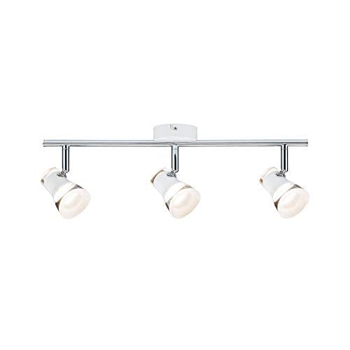 Paulmann 6664 Spotlight Clear 3×4,3W wit mat/chroom 230V metaal acryl 666.64 plafondlamp lamp LED plafondlamp…
