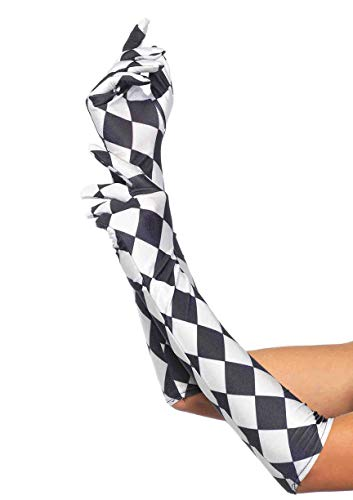 Leg Avenue's Satin Harlequin Elbow Length Glove