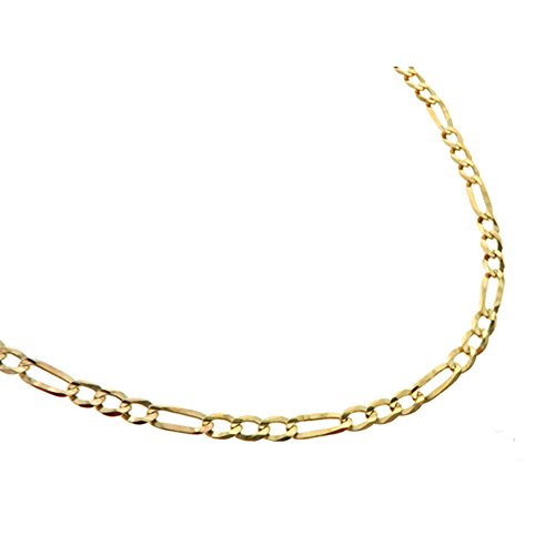 "10K Yellow Gold 30"" (Inch) 3mm Mens Figaro Chain Hip Hop Style Necklace (3mm Width) by Traxnyc"