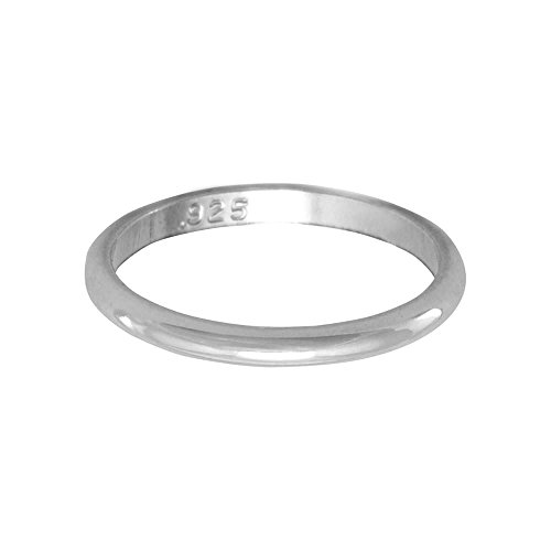 Baby Band Ring Sizes 1-3 Polished Sterling Silver 1.5mm Wide Made in the USA, 3 from AzureBella Jewelry