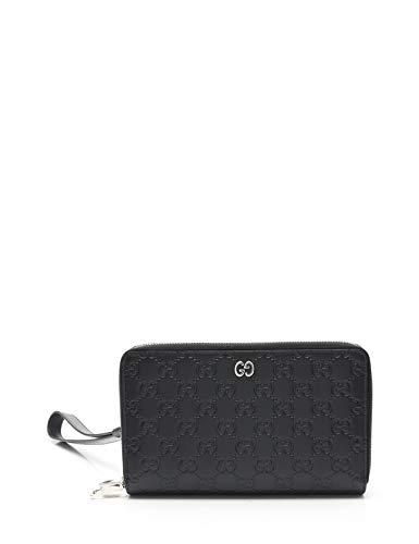 15dcb557e202 Amazon.co.jp: (グッチ) GUCCI GGシグネチャー ジップウォレット レザー 黒 18AW 528100 中古: 服&ファッション小物