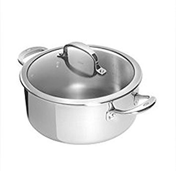 Cuisinart Chefs Classic Stainless Dutch Oven, Silver, 5.75 Qt.
