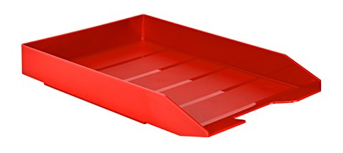 Acrimet Stackable Letter Tray (Solid Red Color) (1 Unit)