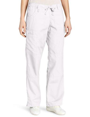 WonderWink Women's Scrubs  Cargo Pant, White, Medium