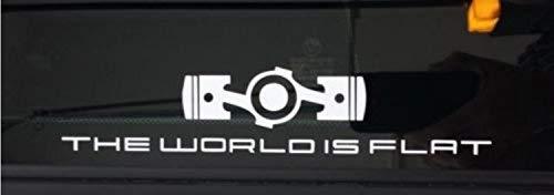The World is Flat in Porsche Font Subaru Sticker Decal Car Vinyl JDM iPad STI