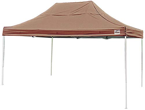 ShelterLogic Easy Set-Up 10 x 15-Feet Straight Leg 50+ UPF Protection Pop-Up Canopy with Roller Storage Bag for the Beach, Park, Tailgating, and Other Outdoor Activities, Desert Bronze