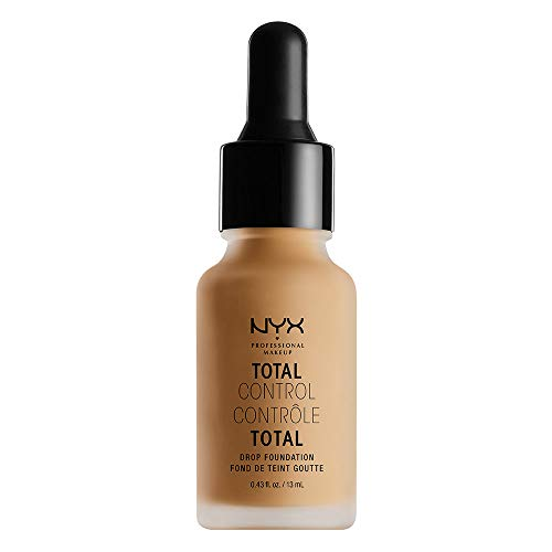 NYX PROFESSIONAL MAKEUP Total Control Drop Foundation, Golden, 0.43 Fluid Ounce