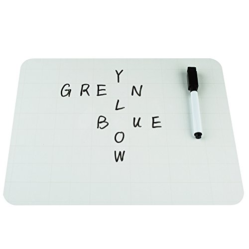 Lockways Grid Dry Erase Board - Dry Erase Lapboards 9 x 12, 12 Grid White Boards, 24 Dry Erase Markers for Kids, Students, Children, Teachers, Classroom, School by Lockways (Image #2)