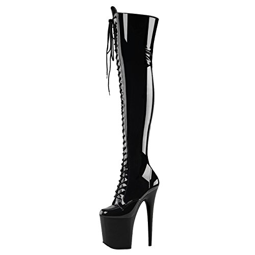 Pleaser - Sexier Than Ever Plateau Overkneestiefel FLAMINGO-3023