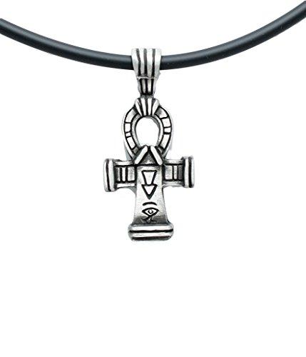 [Ankh Cross of Life Egypt Egyptian Pewter Pendant + 18