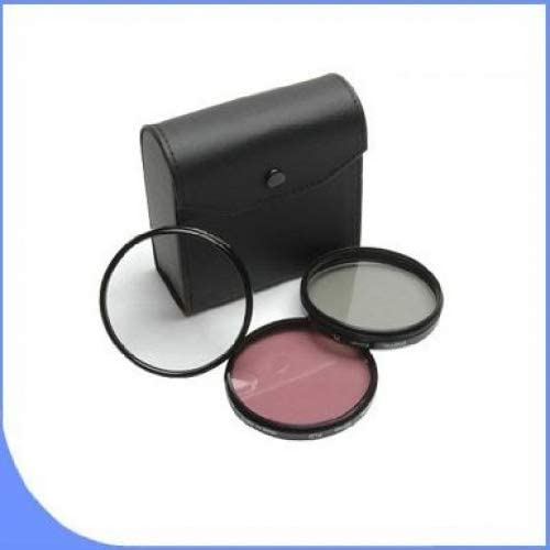 MORE!!! FD 3 Piece Filter Kit UV GZHD6 GZHD5 CPL 43mm Filters w// Hard Case for JVC GZMG730 Camcorders