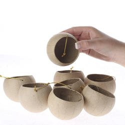 actory Direct Craft Package of 12 Paper Mache Peek-a-Boo Diorama Round Ornaments - Ready to Finish and Decorate