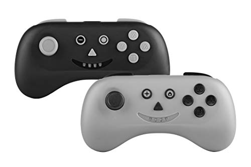 Snakebyte Nsw Multi: Playcon - 2 PC Set (Black and Grey) Wireless Bluetooth Controller Gamepad Joypad Joy-Con Multiplayer Compatible with Nintendo Switch and Nintendo Switch Lite - Nintendo Switch