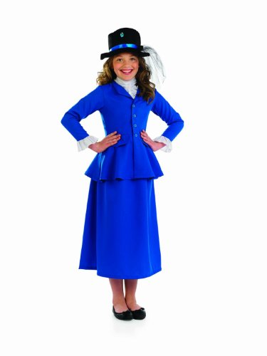 8-10 Years Blue Girls Mary Poppins Costume (School Boy Costumes)