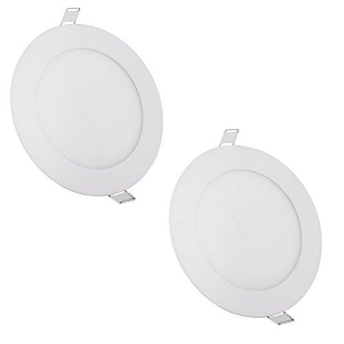 LumenBasic 9w 12v Ceiling Lamp Slim Dome Light 12 Volt Rv Interior Lighting Recessed Panel Ceiling Light - Daylight White - Pack of 2