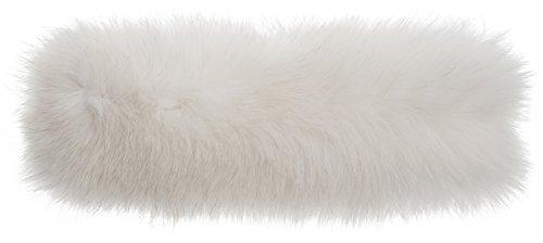 Finn Fox Fur Convertible Headband and Neck Warmer, WHITE, Size 1 Size by Overland Sheepskin Co
