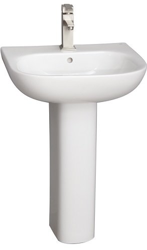 Barclay Products 3-2031WH Tonique 550 Pedestal Lavatory with 1-Hole, White
