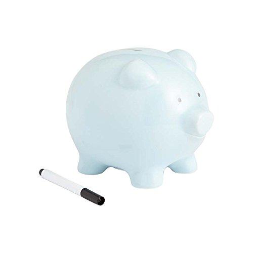 Enesco - Med Piggy Bank Blue w Marker]()