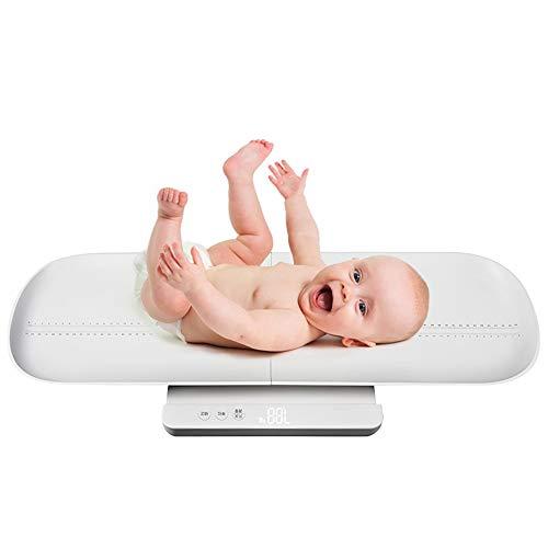 Bebé Balanza Electrónica Bebé Peso Hogar Recién Nacidos Precisión USB Inteligente Carga 100Kg,Pink