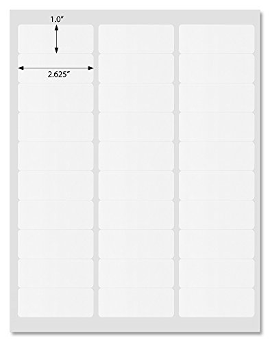"Premium White Matte Address Labels, 2.625"" x 1"" Rounded Corners, for Inkjet and Laser Printers with Downloadable Template and Printing Instructions, 20 Sheets, 600 Labels (ML26)"