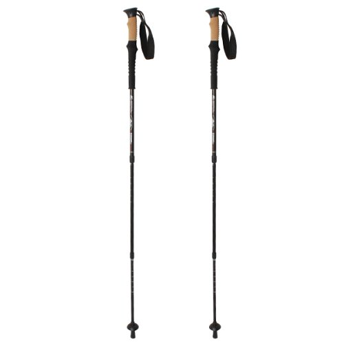 IMAGE® 1 Pair Lightweight Outdoor Mountain Climbing Hiking Walking Trekking Anti Shock Adjustable Trekking Sticks Poles Alpenstock, Outdoor Stuffs