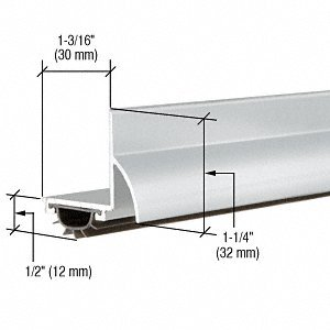 CRL Aluminum Finish ''L'' Shape Door Bottom - 35-3/4''