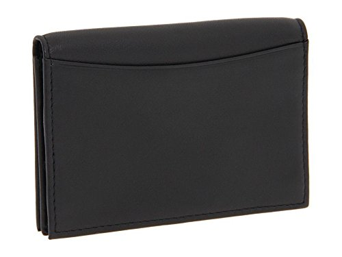 Bosca Men's Nappa Leather Gusseted Front Pocket Card Case ID Wallet (Leather Gusseted Card Case)