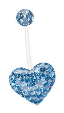 2151257d3 Pregnancy ring Swarovski Crystal Ferido Sparkling Lt Blue gems Heart Paved  Bioflex all plastic adjustable flexible
