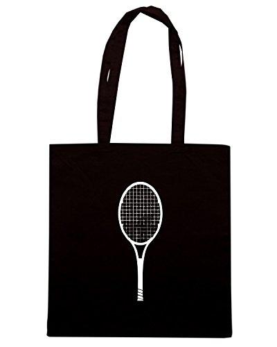 T-Shirtshock - Bolsa para la compra OLDENG00679 tennis racket Negro