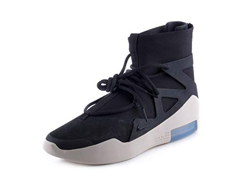 Nike Mens Air Fear of God 1 Black/Black Suede