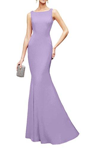 Spitze Lilac Schnitt La Elegant Schmaler Bodenlang Brautjungfernkleider Marie Braut Partykleider Chiffon Abendkleider xqaATn