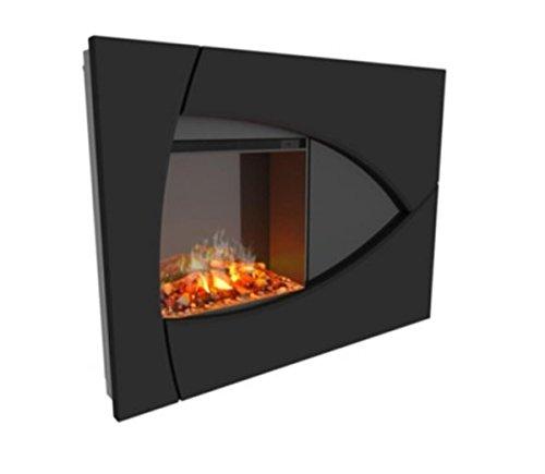 (Dimplex DTBBK Brayden Opti-Myst Wall-Mounted Fireplace Surround, Black)