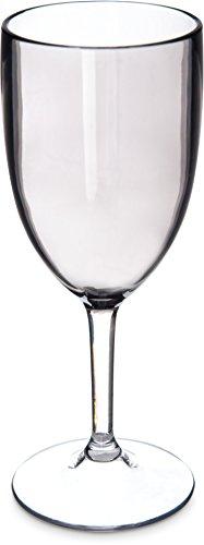Carlisle EP10018 Epicure Tritan Plastic Wine Goblet/Water Glass, 10 oz., Smoke (Pack of 12)
